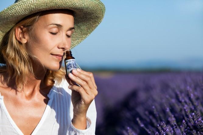 Woman field lavender