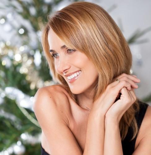 Woman happyness Christmas