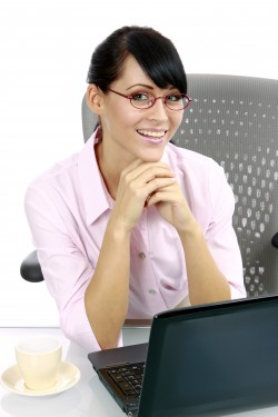 junge Geschaeftsfrau im Buero, young business woman in the office