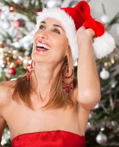 Woman Christmas cap
