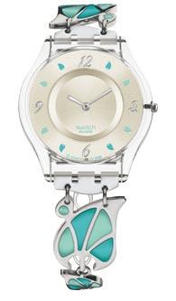 ceas Swatch cu verde