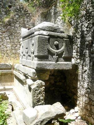 ruine in Olympos