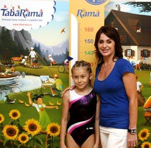 Nadia Comaneci in vizita la TabaRama