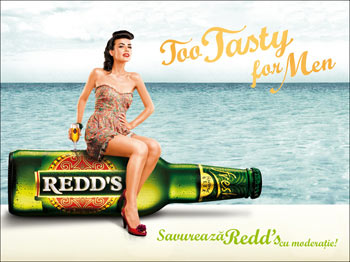 "Redd's a lansat campania ""Too tasty for men"""