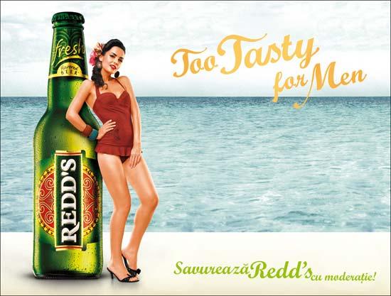 """Redd's a lansat campania """"Too tasty for men"""""""