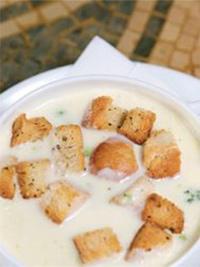 Supa-crema, usturoi