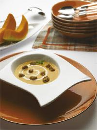 Supa, dovleac, tofu