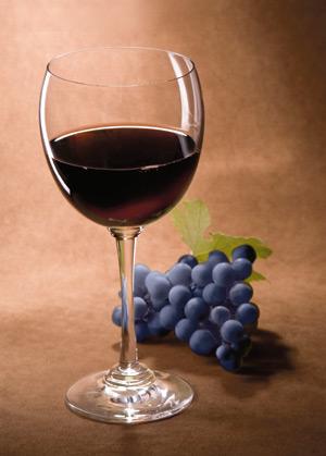 pahar, vin, strugure