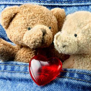 dragoste, inimioara, ursulet