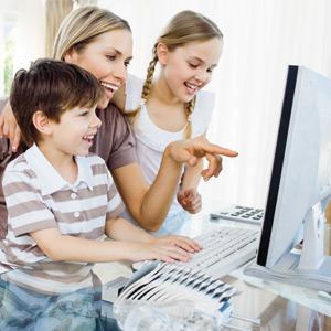 Internet, copil, familie