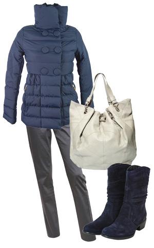 haina, cizme, pantaloni, geanta