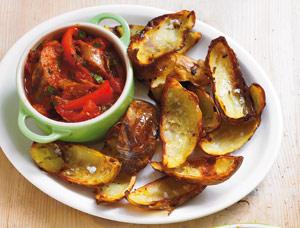 Cartof, carnati, cabanos, rosii