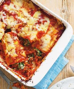 Cannelloni cu 3 feluri de  branza