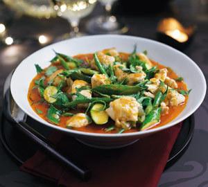 Pui cu legume si curry