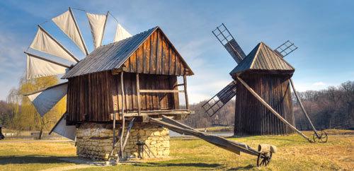 Muzeul Satului din Sibiu, Moara de vant cu panze
