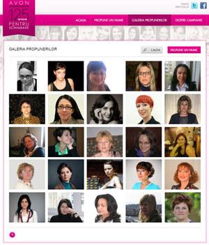 125 de femei pentru schimbare