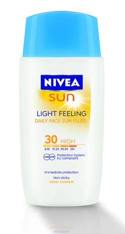 Lotiune de fata NIVEA SUN Light Feeling FPS 30