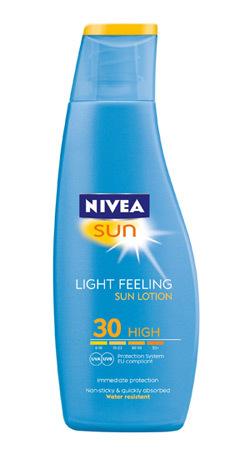 Noua lotiune de plaja NIVEA SUN Light Feeling FPS 30