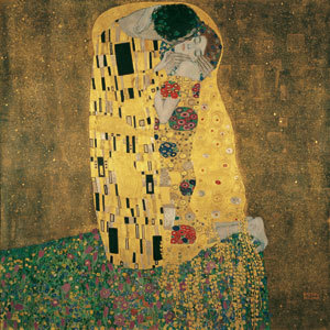 Gustav Klimt: The Kiss (Lovers),1907-1908 ©Belvedere, Wien