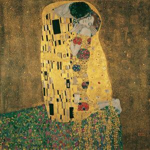 Gustav Klimt: The Kiss (Lovers),1907-1908 ©Belvedere, Wien