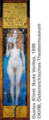 Gustav Klimt: Nuda Veritas, 1899 ©KHM, Österreichisches Theatermuseum