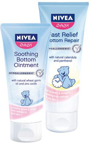 NIVEA Baby, crema pentru fundulet, crema Reparatoare pentru iritatii