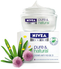 Crema anti-rid de zi NIVEA VISAGE pure & natural