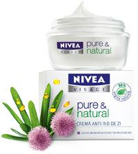 Crema anti-rid de zi NIVEA VISAGE pure & natural
