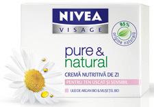 Crema de zi NIVEA VISAGE pure & natural pentru ten uscat