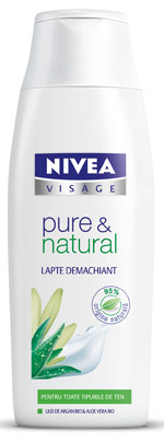 Lapte demachiant NIVEA VISAGE pure & natural