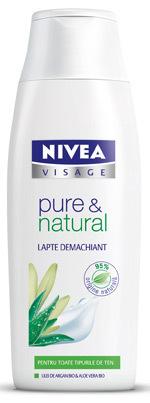 Lapte demachiant NIVEA VISAGE pure & natural