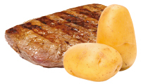 Friptura + cartofi
