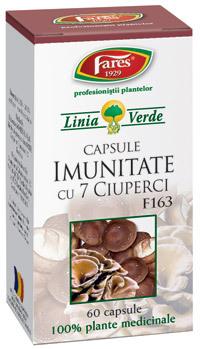 Capsulele Imunitate cu 7 ciuperci