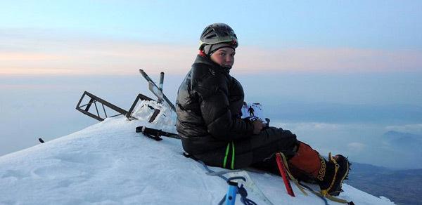 Crina Popescu pe varful Pico de Orizaba