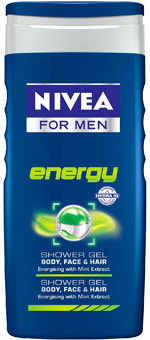 Gel de dus NIVEA FOR MEN Energy