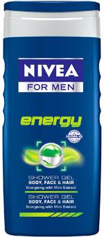 Gel de dus NIVEA FOR MEN Energy