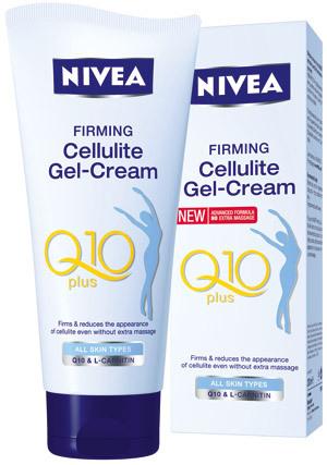 Gel-crema anticelulitic NIVEA Q10 plus