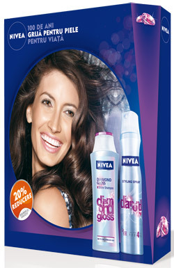 Pachetul Nivea Diamond Gloss