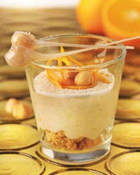 Crema mascarpone cu alune si portocale