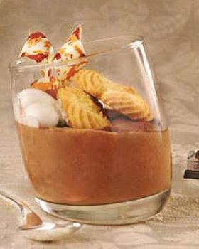 Mousse de mascarpone si ciocolata amaruie