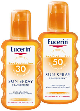 Sprayurile transparente pentru protectie solara SPF50 si SPF30