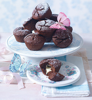 Briose cu ciocolata topita