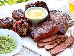 Biftec cu sos aioli