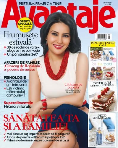 Coperta revistei Avantaje, editia de august