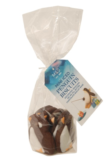 Mini Iced Penguin Biscuits 55g