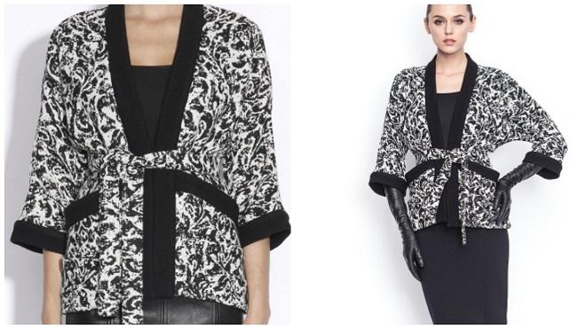 jacheta lejera alb-negru