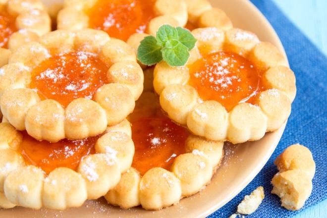 biscuiti cu gem de portocale
