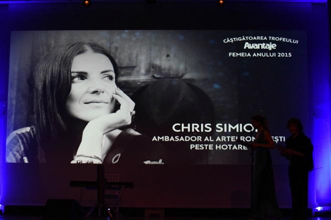 Chris Simion, premiul Femeia Anului 2015, categoria Ambasador al Artei Romanesti peste Hotare