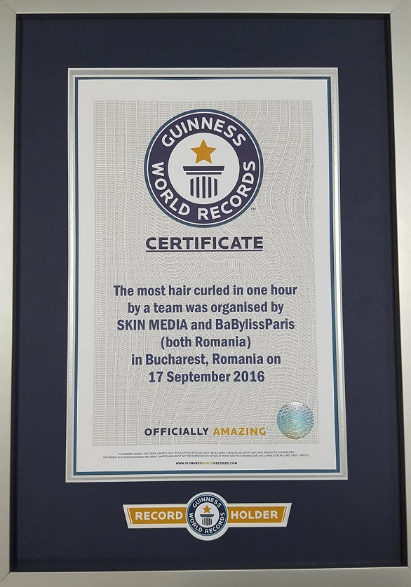 certificat guiness world record