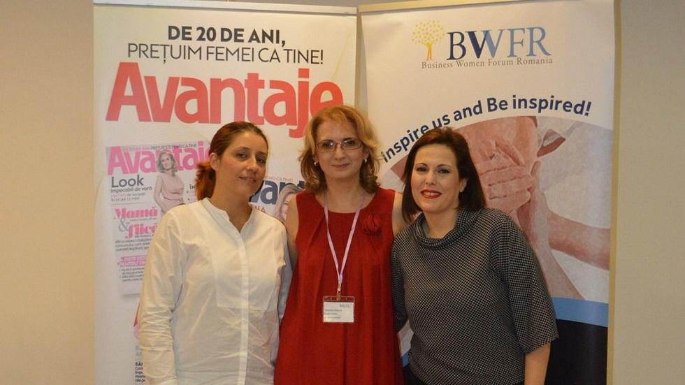 Daniela Palade Teodorescu, Osnat Peled, Alina Stanciu ca conferinta MUZA PR&Advertising